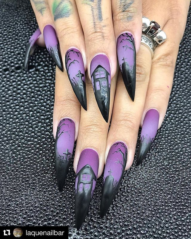 30 Cool and Easy Halloween nail art designs for Women img 10