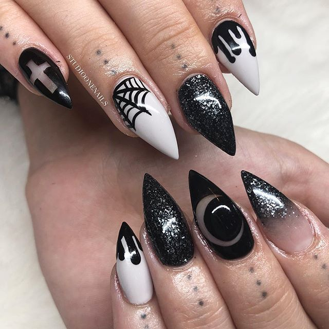 30 Cool and Easy Halloween nail art designs for Women img 3