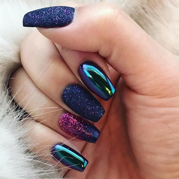 80+ Dark Color Nail Designs for Women images 1