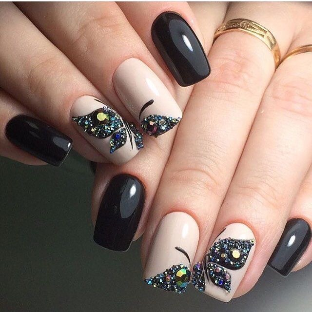 80+ Dark Color Nail Designs for Women images 2