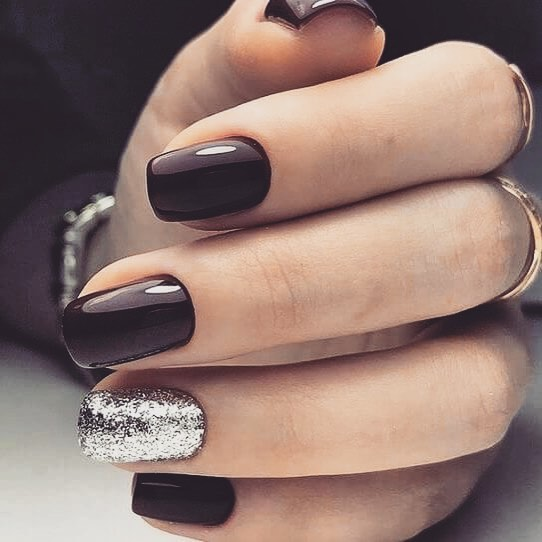 80+ Dark Color Nail Designs for Women images 3