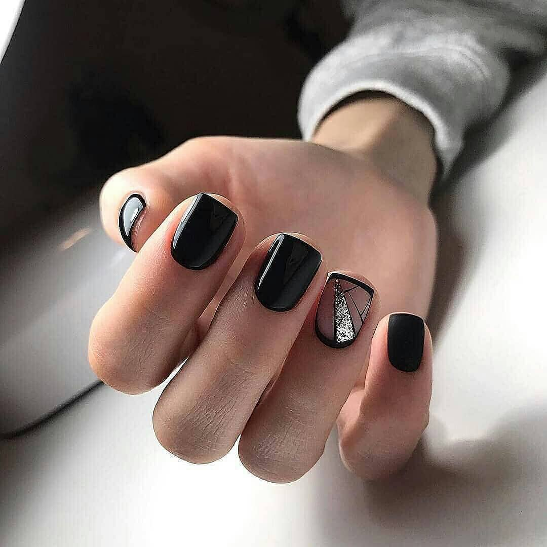 80+ Dark Color Nail Designs for Women images 4