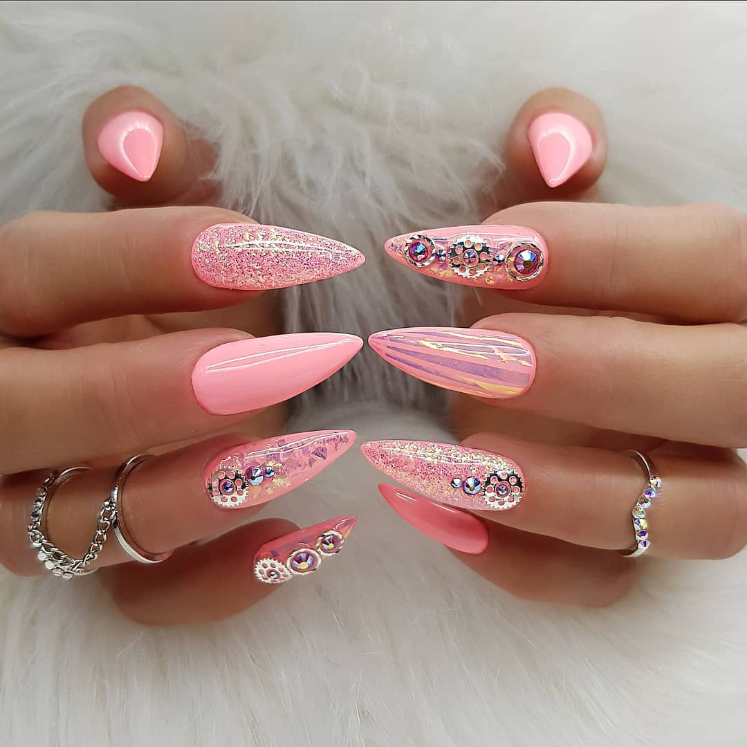 Over 80 Designs for Perfect Pink Nail Art Designs images 1