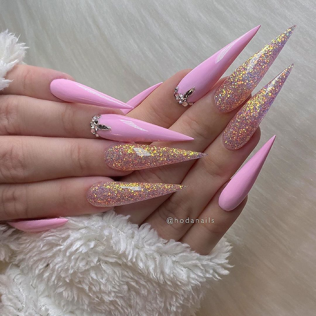 30+ Best Stiletto Nails Designs Trendy For 2020 images 1