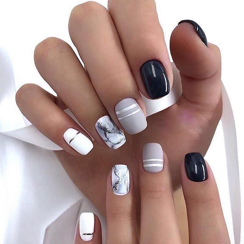 30+ Geometric Nail Art Designs images 3